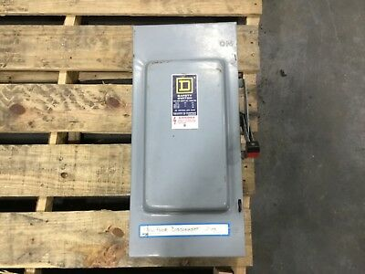 Square D Safety Switch Enclosure 600v 100a 998dk