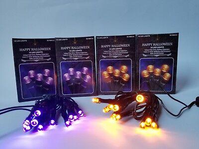 New 10 Battery Powered Halloween decoration LED  Mini Lights Purple /Orange ](Purple Halloween Lights)