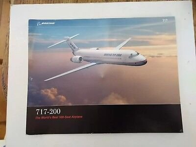 Boeing 717 200 official card A4 Promo rare & collectable US BOAC Airline BA