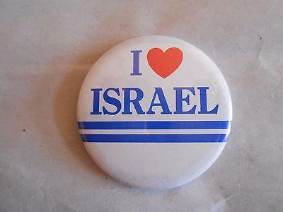 Cool Vintage I Love Israel Souvenir Pinback