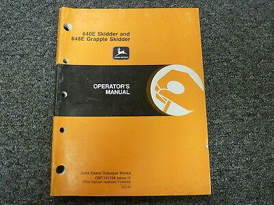 John Deere 640e Skidder 648e Grapple Skidder Owner Operator Manual Omt131728