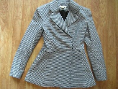 WOMENS H&M SNAP BUTTON FLARE FASHION STRETCH BLAZER JACKET COAT SIZE 4 US 34 EUR