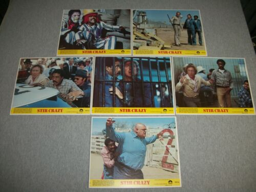 "(6) Movie Still Shots ~ 1980 ""Stir Crazy"" ~ Gene Wilder ~ Richard Pryor"