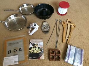 Lot of kitchenware including Pampered Chef