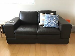 2 Seater Genuine Leather Sofa Waitara Hornsby Area Preview
