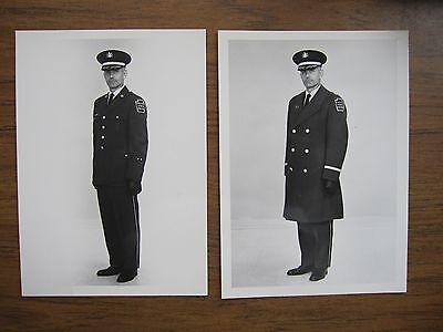 1967  Pennsylvania State Police Captain in dress uniform & coat  (2  photos)