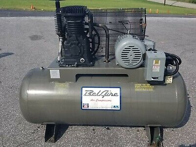 Used 10 Hp Imc Belaire Piston Compressor Two Stage 120 Gallon