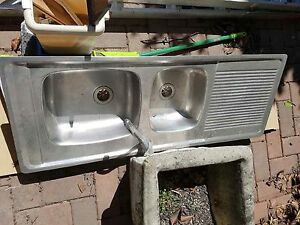Double Bowl Kitchen Sink and Single Bowl Laundry Sink Crows Nest North Sydney Area Preview