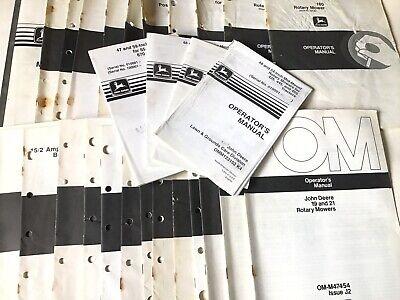 John Deere Vintage Operators Manual Wholesale Lot - 30 Books L12