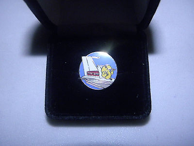 COLLECTABLE WALLYBIRD!  50'S - 60'S WESTERN AIRLINE LAPEL TAC PIN PILOT FA GIFT