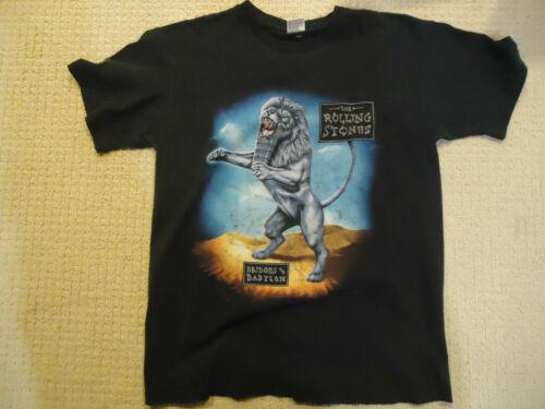 Vintage Men's 1997 The Rolling Stones Bridges to Babylon Black Tour T-shirt XL