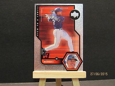 Ansicht, Baseball (1999 Upper Deck Ansicht auf Thrill #V27 Alex Rodriguez Dhc)