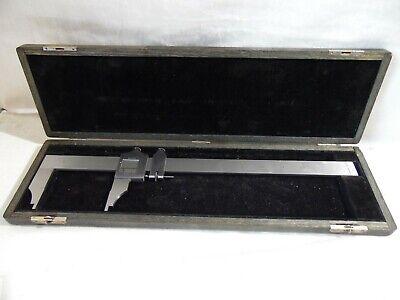 Vtg L.s Starrett 122 Vernier Caliper 0-12 Outside Inside Pristine 11000 Usa