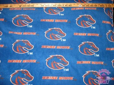 NCAA Boise State University Broncos Blue Fleece Fabric by the -