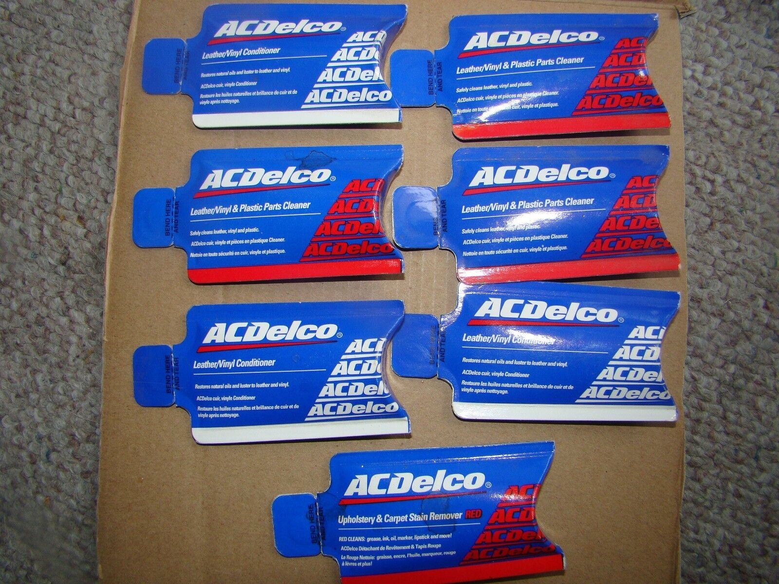Vintage Lot AC Delco General Motors Dealer Samples Leather And Vinyl Cleaner 1OZ