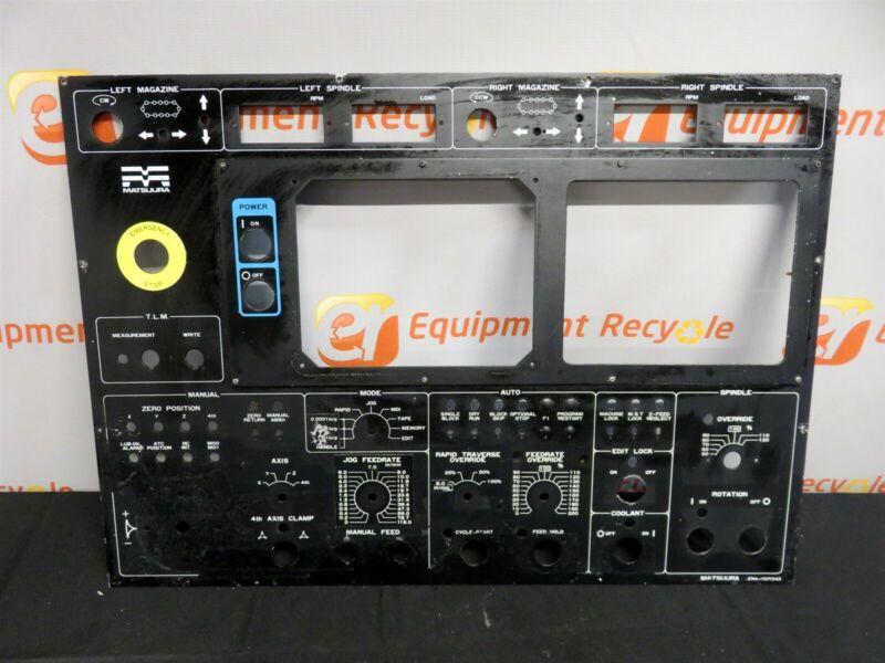 Matsuura EN4-0052A Main Operator Control Panel Face Plate Faceplate