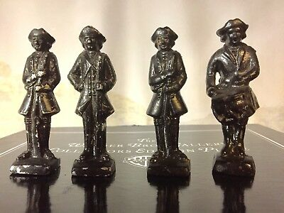 "Vintage Revolutionary War  3 1/2"" Metal  Soldier Figures"