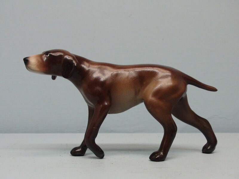 Old Monrovia  Hagen Renaker DW German Pointer Repaired Leg