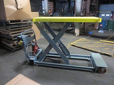 Vestil Lift Hydraulic Electric Portable Scissors Lift Table 24 X 64  1000