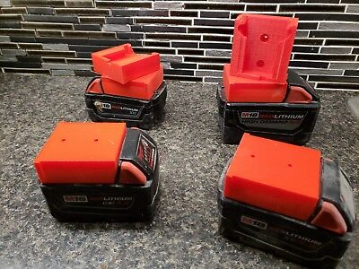 Milwaukee M18 Battery Holder/wall mount With screw Holes