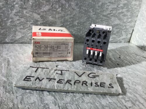 NEW GENUINE ABB  A26-30-01-81  CONTACTOR  3-POLE  24VAC  28 AMPS