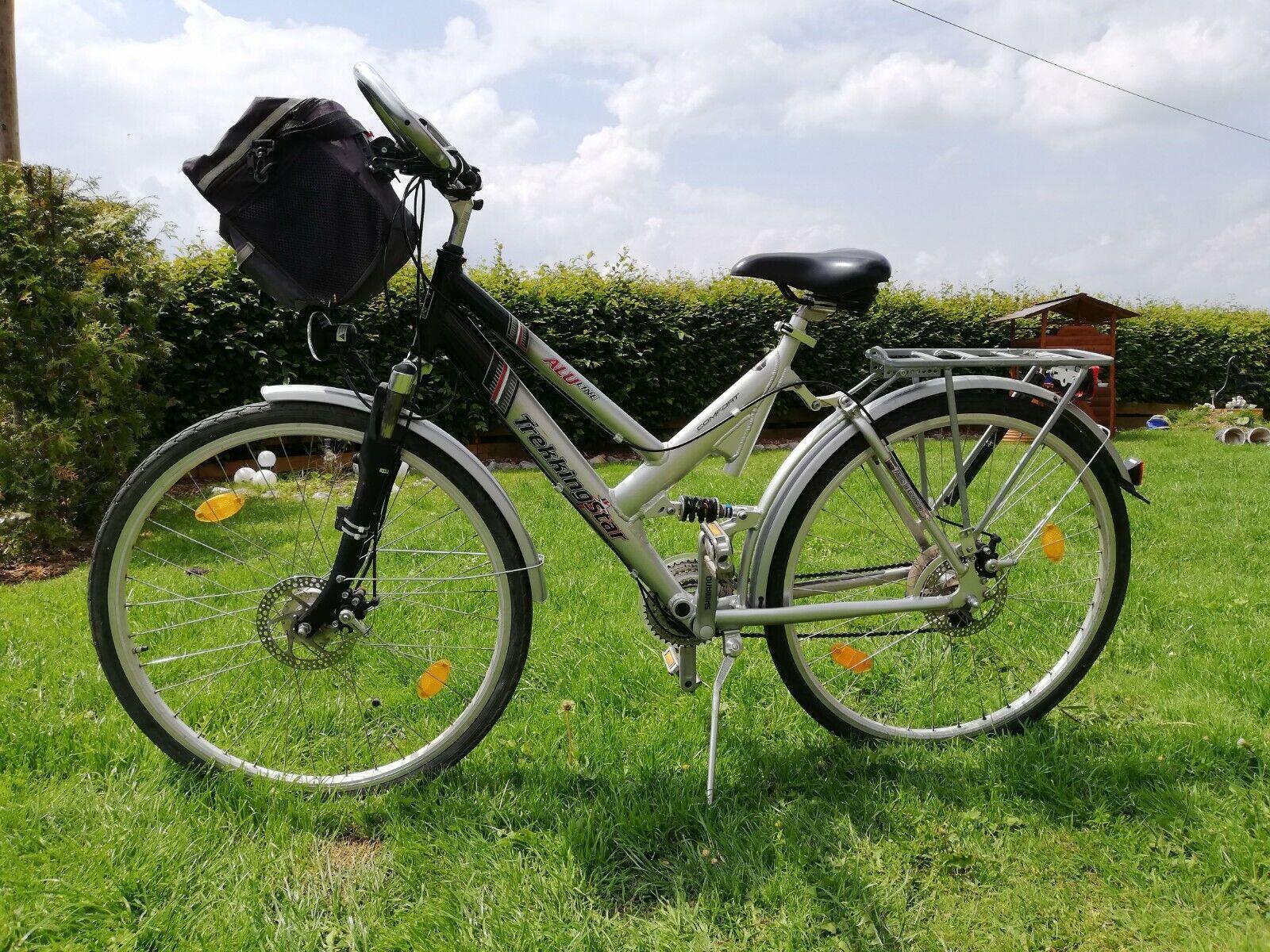Damen Trekkingrad, 28 zoll, gebraucht, Shimano 24 Gang Kettenschaltung,Silber