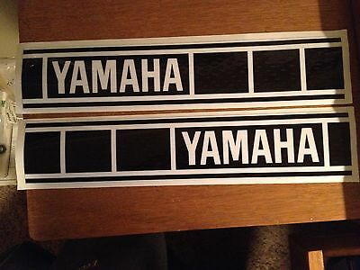 "Yamaha Fuel Tank Decals Vintage Gas Tank 3 3/16""x16 YZ125 YZ250 YZ465 Perforated"