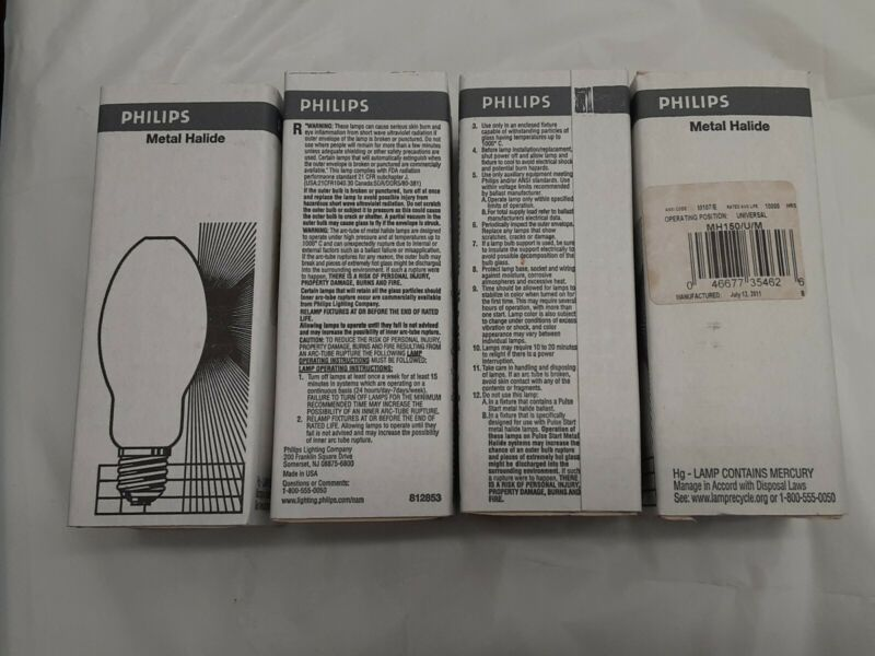 Philips Metal Halide HID Light Bulb 4 Pack