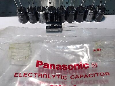 Lot Of 10 New Panasonic Audio Grade Electrolytic Capacitors 1000uf 25v Japan