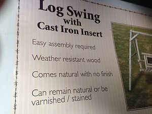 Brand New - Log and Cast Iron Swing