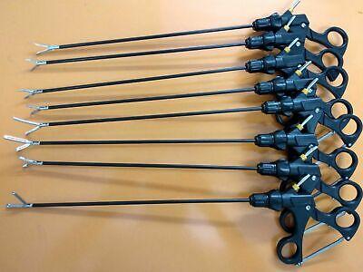 Laparoscopic Grasper Scissors Dissector Forceps Reusable Instruments Set 8pc 5mm
