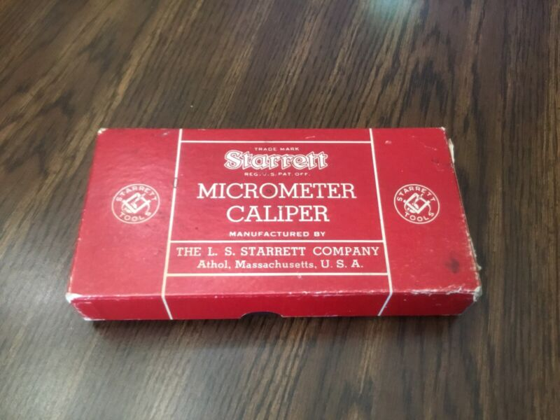 Starrett Micrometer Caliper No. 436 in Box