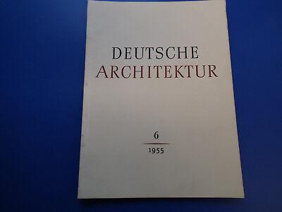 DDR Zeitschrift- Deutsche Architektur -6/1955-Ländlicher Wohnungsbau-Dorf Archit