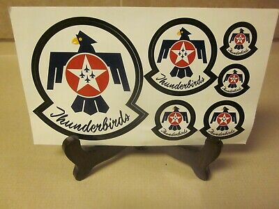 The United States Air Force 'Thunderbirds' Air Demonstration Squadron Decals V/G