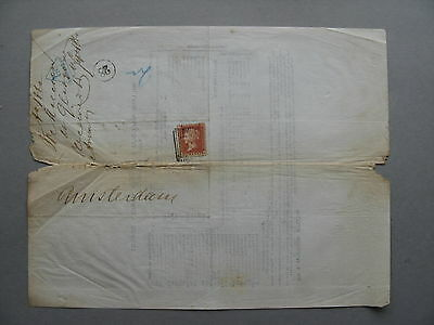 UK GB ENGLAND, wrapper to the Netherlands 1860 Due 1½ cent Amsterdam, postman 28
