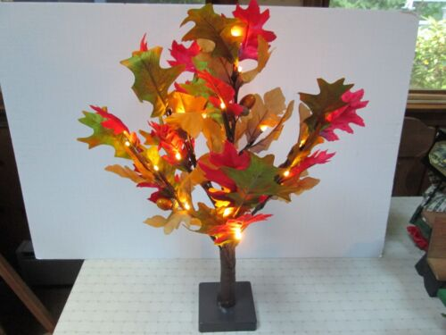 """Accessory for Byers Choice- 24"""" Mini  Fall Lighted Oak Tree New"""
