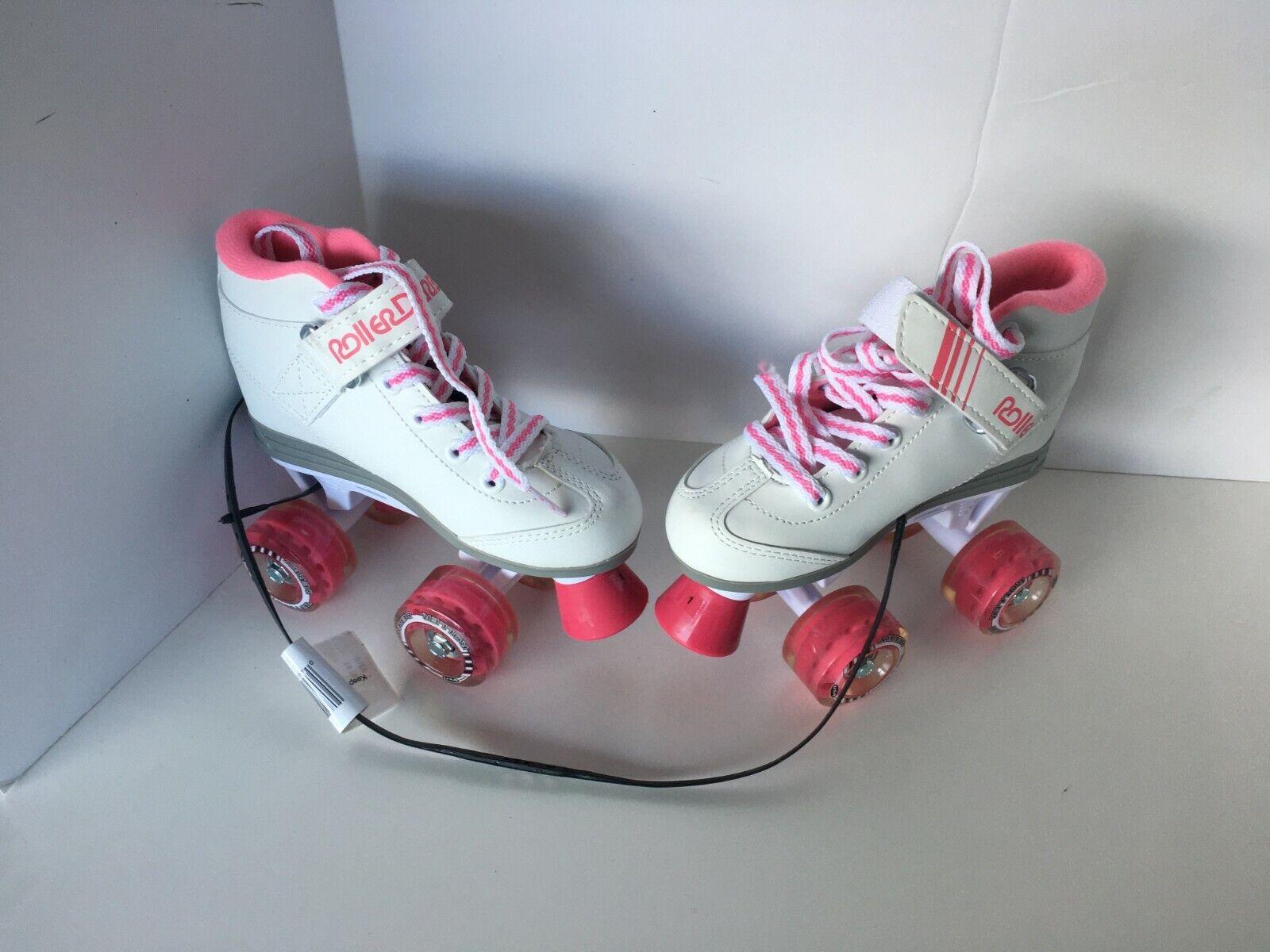 Roller Derby Girls' Sparkle Quad Light-up Wheel Roller Skate