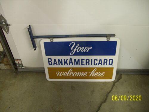 bankamericard bank card sign