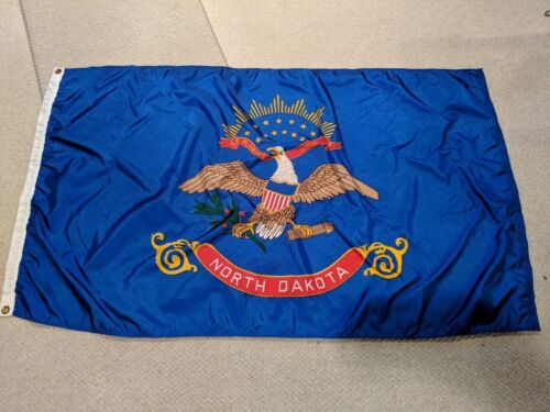 Official 3 Ft. X 5 Ft. North Dakota Dura-Lite Nylon State Flag-Great Condition!