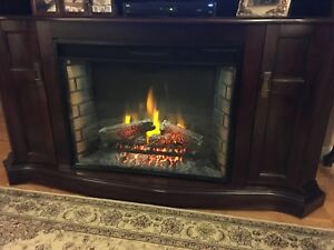 Fireplace with a remote control