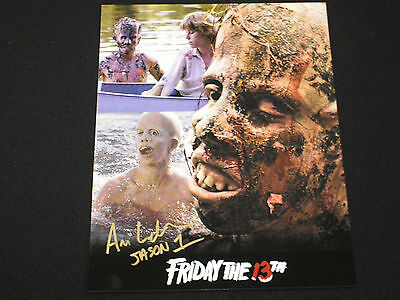 ARI LEHMAN Signed Multi Image 8x10 Photo Auto Jason Voorhees Friday the 13th J