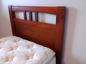 Beautiful wooden single bed with Posture King pillow top mattress Rochedale Brisbane South East Preview