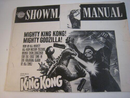 Pressbook - Partial....KING KONG VS. GODZILLA - 1962