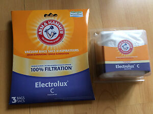 2 sacs et 2 filtres pour Electrolux