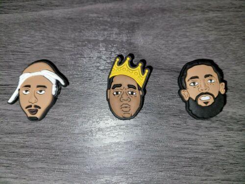 Tupac, Nipsey, Biggie Croc Shoe Charms Jibbitz
