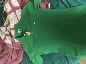 Authentic green polo Burberry shirt