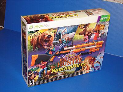 Cabela's Big Game Hunter Hunting Party With Gun (Xbox 360, 2011) Kinect NIB!