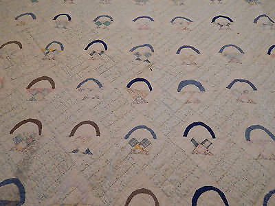Vintage Hand Stitched Cutter ? 100% Cotton Quilt  68