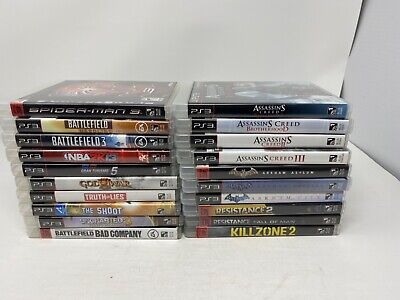 (20) PLAYSTATION 3 Video GAME LOT spider-man/Batman/assassin creed ps3 BUNDLE