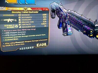M10 Level 57 Soulrender RADIATION Amara Cast 250 Phasecastxbox bl3 Mayhem 10